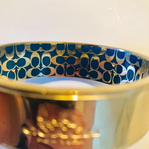 Coach Jewelry - Coach Hinged Gold Bangle Bracelet